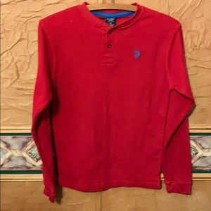 U.S. Polo Assn. red long sleeved thermal size 18